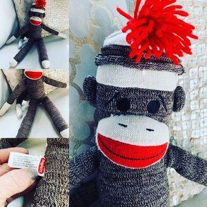 Schylling Sock Monkey VGUC Doll